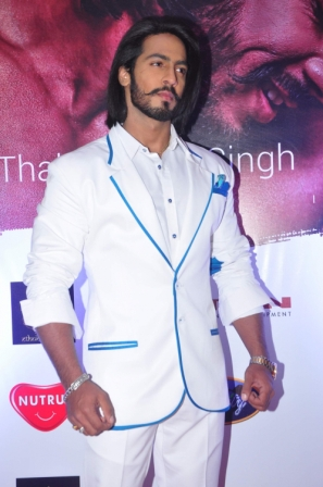 Anoop Singh Thakur, Mr World 2015 during the launch of his wax model