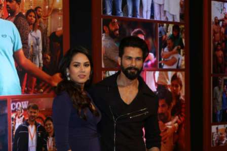 Actor Shahid Kapoor during the success party of film Dangal