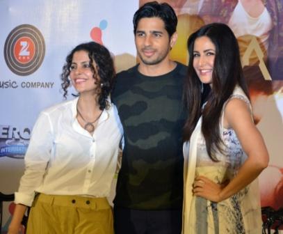 Sidharth Malhotra and Katrina Kaif during promotions of 'Baar Baar Dekho'