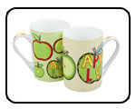 Mugs Assorted 2-Piece Set An Apple A Day Rayware