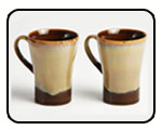 Cultural Concepts Brown Studio Cone Milk Mugs