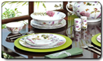 Elvy Porcelain Flora Dinner Set