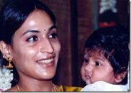 Dhanush wife and son