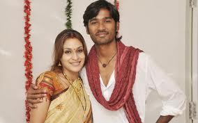 Dhanush and his wife pic