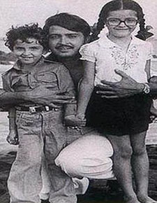Hrithik Roshan with Father