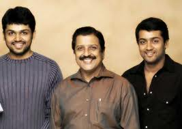 Karthi and father and brother pic