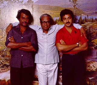 Rajini Kanth with Kamal, K.B