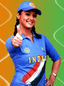 Preity Zinta Cheering Indian Team