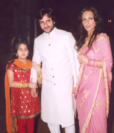 Saif Ali Khan with Family