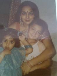 Shriya Saran childhood pic