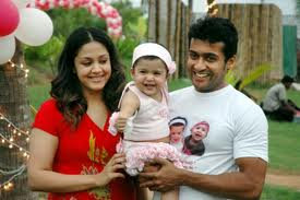 surya wife and daughter picture