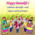 Baisakhi Greetings Card