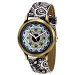 Multi Color Dial Leather Watch
