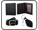 Men Leather Accessories Gift Set