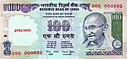 A Hundred Rupee Note