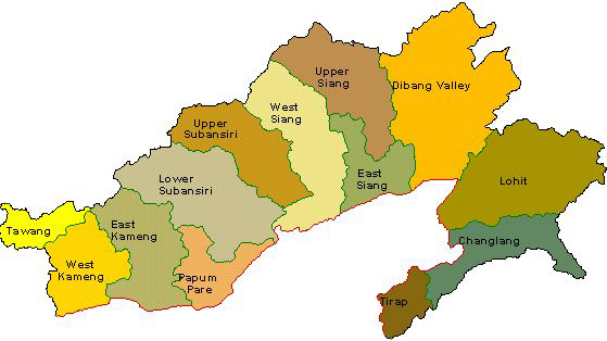 Map of Arunachal Pradesh