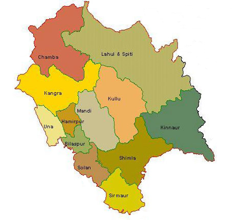 Maps of Himachal Pradesh