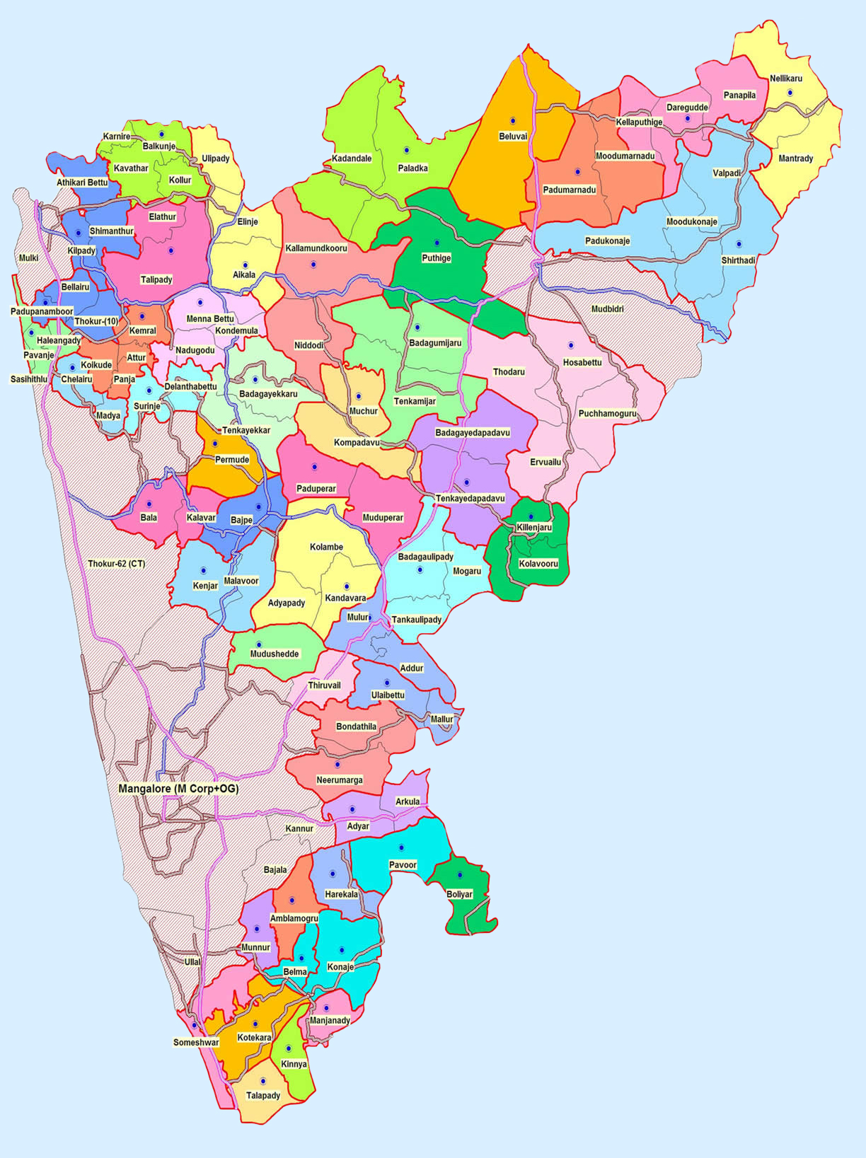 Map of Mangalore