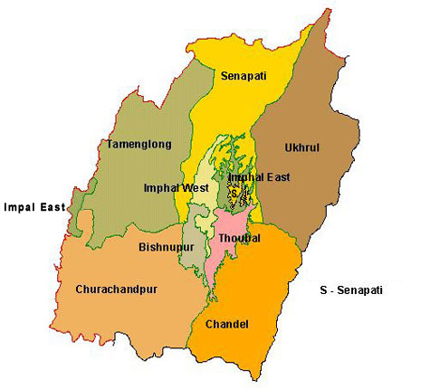 Map of Manipur