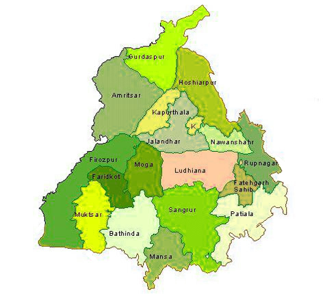 Maps of Punjab