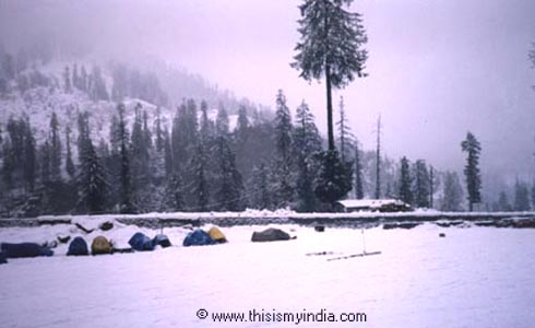 Snow covered,Mountains,Manali,India
