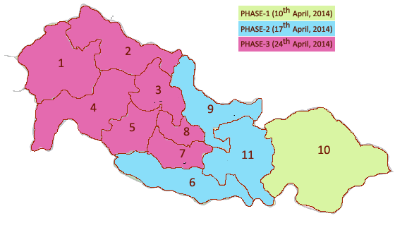 Chhattisgarh Election Map