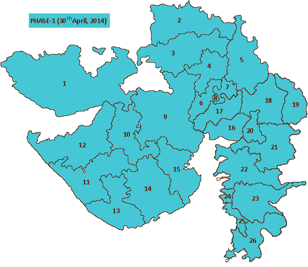 Gujarat Election Map