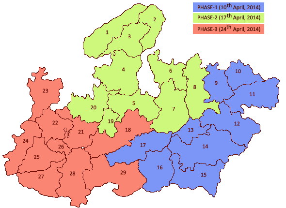Madhya Pradesh Election map
