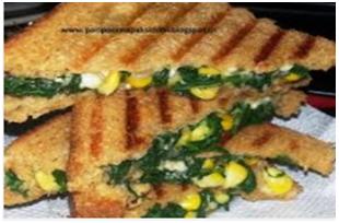 Healthy starter for parties: corn capsicum sandwich