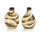 Warli Handpainted Terracotta  Unique Vase Set
