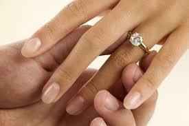 Selection of engagement rings for spouse