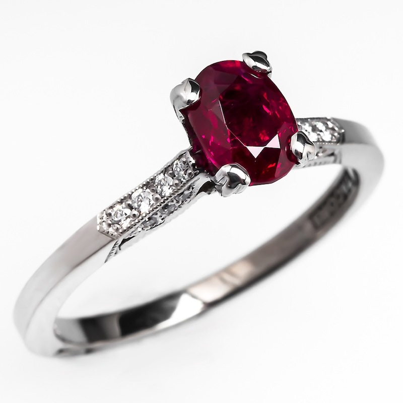Diamond and Rubies engagement rings for spouse