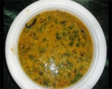 Telangana palakoora is a spinach dish