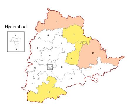 Telangana Election Map