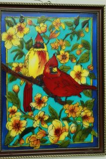 Two Bird Glass Painting Designs Bird Glass Painting