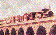 One of the earliest pictures of railways in India.